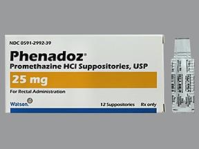 Phenadoz 25 mg rectal suppository