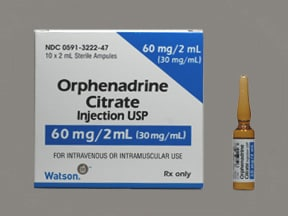 orphenadrine citrate 30 mg/mL injection solution