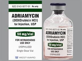 Adriamycin 50 mg intravenous solution
