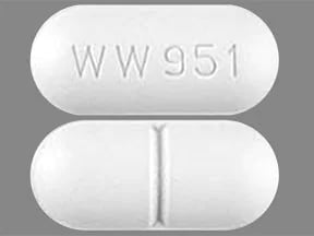 "This medicine is a white, oblong, scored, film-coated, tablet imprinted with ""WW951""."
