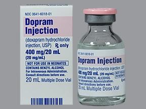 Dopram 20 mg/mL intravenous solution