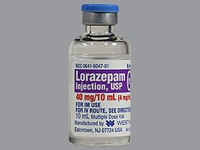 lorazepam 4 mg/mL injection solution