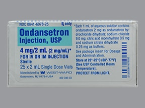 ondansetron HCl (PF) 4 mg/2 mL injection solution