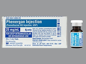 Phenergan 25 mg/mL injection solution