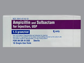 ampicillin-sulbactam 1.5 gram solution for injection