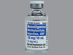 neostigmine methylsulfate 1 mg/mL intravenous solution