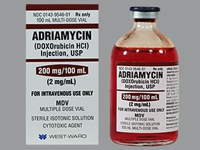 Adriamycin 2 mg/mL intravenous solution