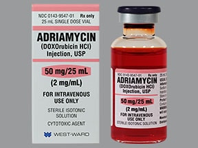 Adriamycin 50 mg/25 mL intravenous solution