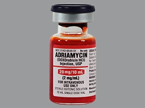 Adriamycin 20 mg/10 mL intravenous solution