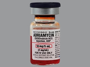Adriamycin 10 mg/5 mL intravenous solution