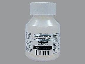 cefadroxil 250 mg/5 mL oral suspension