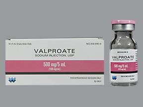 valproate sodium 500 mg/5 mL (100 mg/mL) intravenous solution