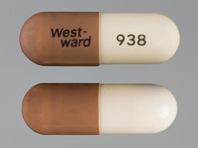 "This medicine is a ivory caramel, oblong, capsule imprinted with ""West-  ward"" and ""938""."