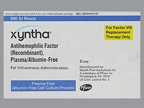 Xyntha 500 (+/-) unit intravenous solution