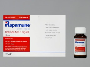 Rapamune 1 mg/mL oral solution
