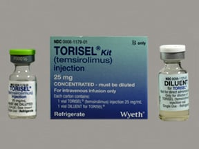 Torisel 30 mg/3 mL (10 mg/mL) (first dilution) intravenous solution