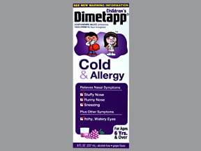 Dimetapp Cold-Allergy (PE) 1 mg-2.5 mg/5 mL oral solution