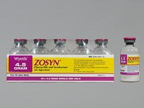 Zosyn 4.5 gram intravenous solution