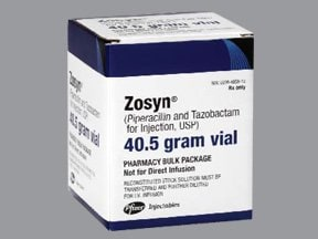 Zosyn 40.5 gram intravenous solution