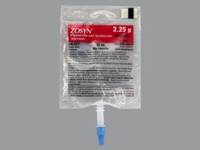 Zosyn 2.25 gram/50 mL in dextrose (iso-osmotic) intravenous piggyback