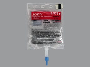 Zosyn 3.375 gram/50 mL in dextrose (iso-osmotic) intravenous piggyback