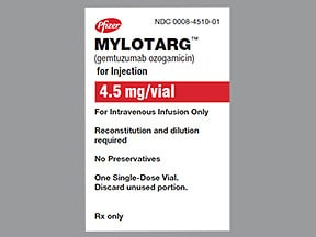 Mylotarg 4.5 mg (1 mg/mL initial concentration) intravenous solution