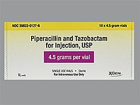 piperacillin-tazobactam 4.5 gram intravenous solution