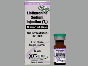 liothyronine 10 mcg/mL intravenous solution