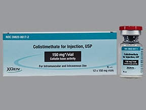 colistin (colistimethate sodium) 150 mg solution for injection