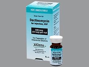dactinomycin 0.5 mg intravenous solution