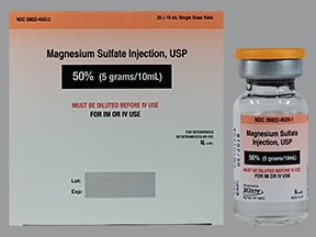 magnesium sulfate 4 mEq/mL (50 %) injection solution