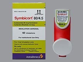 Symbicort 80 mcg-4.5 mcg/actuation HFA aerosol inhaler