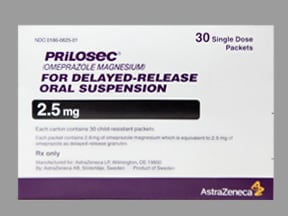 Prilosec 2.5 mg oral suspension,delayed release
