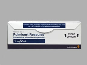 Pulmicort 1 mg/2 mL suspension for nebulization