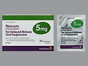 Nexium Packet 5 mg granules delayed release for susp