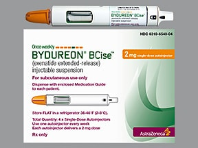 Bydureon BCise 2 mg/0.85 mL subcutaneous auto-injector