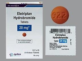 eletriptan 20 mg tablet
