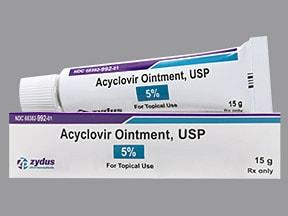 acyclovir 5 % topical ointment