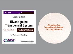 rivastigmine 13.3 mg/24 hour transdermal patch