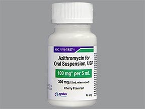 azithromycin 100 mg/5 mL oral suspension