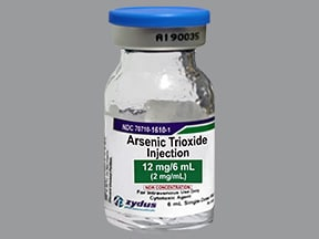 arsenic trioxide 2 mg/mL intravenous solution