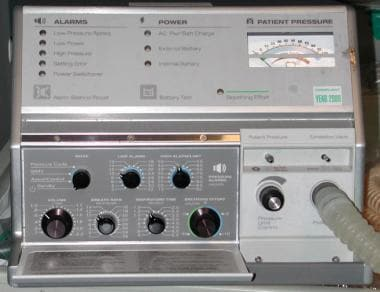 A home ventilator (LP6) is prescribed for selected