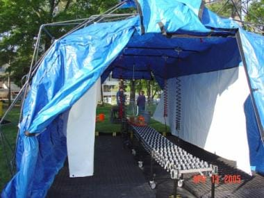 Portable decontamination shelter. Image courtesy o