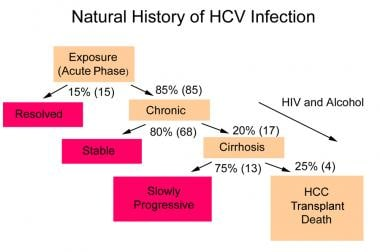 Natural history of hepatitis C virus infection.