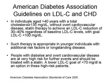 American Diabetes Association guidelines for low-d