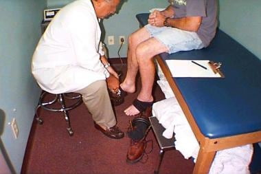Dorsiflexion test. Image courtesy of Bob May, MD.
