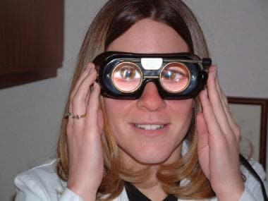 Example of Frenzel goggles used for evaluation in