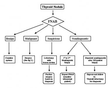 Algorithm for the management of a solitary thyroid