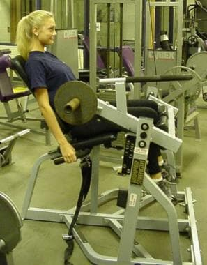 Seated hamstring curls.