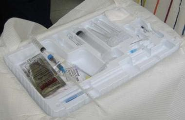 Paracentesis/thoracocentesis tray.
